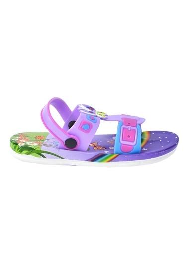 Kiko Kids Kiko Akn E240.012 Plaj Havuz Kız Çocuk Sandalet Terlik Lila